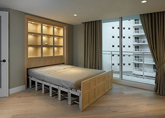Retractable wall bed